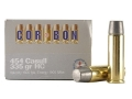 Cor-Bon Hunter Ammunition 454 Casull 335 Grain Hard Cast Lead Flat Nose Box of 20