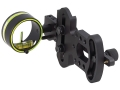 HHA Sports Optimizer Lite OL-3000 1-Pin Bow Sight .029&quot; Pin Diameter Right Hand Aluminum Black