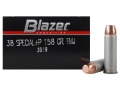 CCI Blazer Ammunition 38 Special +P 158 Grain Full Metal Jacket Box of 50