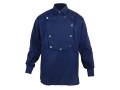 "WahMaker Cavalry Bib Shirt Long Sleeve Cotton Navy XL (48"")"