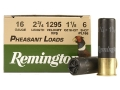 "Product detail of Remington Pheasant Ammunition 16 Gauge 2-3/4"" 1-1/8 oz #6 Shot Box of 25"