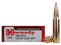 Hornady SUPERFORMANCE Ammunition 308 Winchester 150 Grain Gilding Metal Expanding Boat Tail Box of 20