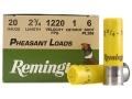 "Product detail of Remington Pheasant Ammunition 20 Gauge 2-3/4"" 1 oz #6 Shot Box of 25"
