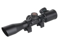 TRUGLO Tru-Brite Xtreme Tactical Rifle Scope 4x 32mm Red and Green Illuminated Mil-Dot Matte with Weaver-Style Rings