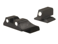 Wilson Combat Snag-Free 3-Dot Sight Set 1911 Heinie Front Cut and Standard Rear Cut Steel Blue
