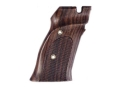 Hogue Fancy Hardwood Grips S&amp;W 41 with Left Hand Thumb Rest Checkered Rosewood
