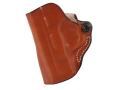 DeSantis Mini Scabbard Outside the Waistband Holster Left Hand Smith & Wesson M&P Compact 9mm, 40 S&W Leather Tan