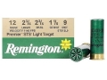 "Product detail of Remington Premier STS Light Target Ammunition 12 Gauge 2-3/4"" 1-1/8 oz #9 Shot"
