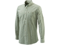 Beretta Men's Seersucker Travel Shirt Long Sleeve Cotton