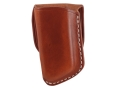 El Paso Saddlery Single Magazine Pouch Single Stack Magazine Leather Russet Brown