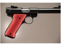 Hogue Extreme Series Grip Ruger Mark II, Mark III Aluminum Matte Red