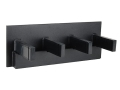 Product detail of Plastix Plus AR-15 4-Gun Vertical Wall Mount with Magazine Storage Plastic Black