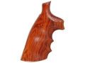 Hogue Fancy Hardwood Grips with Finger Grooves S&W N-Frame Square Butt Cocobolo