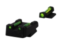 HIVIZ Sight Set Taurus PT 1911 Steel Fiber Optic Green