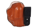 DeSantis Flex-Tuk Inside the Waistband Holster Right Hand Smith &amp; Wesson J-Frame Revolver Leather Tan