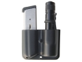 Blade-Tech Single Magazine and Flashlight Pouch Right Hand Double Stack 9mm & 40 S&W Magazine Surefire G2, G3 Lens Down Tek-Lok Kydex Black