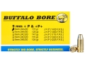 Product detail of Buffalo Bore Ammunition 9mm Luger +P+ 115 Grain Jacketed Hollow Point Box of 20