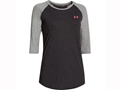 Under Armour Women's Borderland 3/4 Sleeve T-Shirt Cotton and Polyester Blend