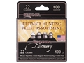 Benjamin Hunting Assortment Airgun Pellets 22 Caliber 14.3 Grain 100 each of Domed, Hollow Point, Super Point and Pointed
