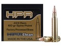HPR HyperClean Remanufactured Ammunition 223 Remington 60 Grain Soft Point Box of 50