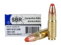 SBR LaserMatch Ammunition 458 SOCOM 350 Grain Full Metal Jacket ERVT Box of 20