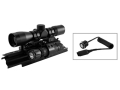 NcStar Sights N&#39; Lights Combo 4x 30mm P4 Reticle Scope with Rings, AK-47 Tri-Rail Mount and Flashlight Matte