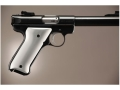 Product detail of Hogue Extreme Series Grip Ruger Mark II, Mark III Brushed Aluminum Gloss Clear