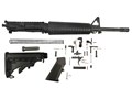 "Del-Ton Mid-Length Carbine Kit AR-15 5.56x45mm NATO 1 in 7"" Twist 16"" Chrome Lined Barrel Upper Assembly, Lower Parts Kit, M4 Collapsible Buttstock"