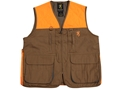 Browning Men&#39;s Pheasants Forever Vest Cotton and Polyester Field Tan and Blaze Orange Medium 40-42