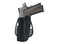 Uncle Mike&#39;s Paddle Holster Left Hand Glock 26, 27, 33 Kydex Black