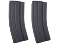 AR-Stoner Magazine AR-15 223 Remington 30-Round Curved Body with Anti Tilt Follower Stainless Steel Black 2 Pack
