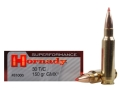 Hornady SUPERFORMANCE GMX Ammunition 30 TC 150 Grain Gilding Metal Expanding Lead-Free Box of 20