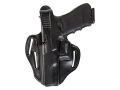 Bianchi 77 Piranha Belt Holster Left Hand S&amp;W J-Frame 2&quot; Barrel Leather Black