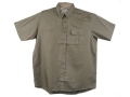 "Bob Allen Shooting Shirt Short-Sleeve Mesh-Back Right Hand Sage Large (42"" to 44"")"