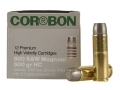 Cor-Bon Hunter Ammunition 500 S&W Magnum 500 Grain Hard Cast Lead Flat Point Box of 12