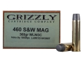Grizzly Ammunition 460 S&W Magnum 360 Grain Lead Wide Nose Gas Check Box of 20