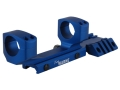 "Warne RAMP 1-Piece Extended Scope Mount Picatinny-Style with Integral 1"" Rings Flat-Top AR-15 Team Warne Blue"