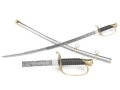 "Collector's Armoury Replica Civil War Foot Officer's Sword 34"" Carbon Steel Blade Steel Scabbard"