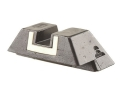 "Glock Square Rear Sight 7.3mm .287"" Height Steel Black White Outline"