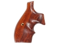 Hogue Bantam Grips with Top Finger Groove S&W N-Frame Round Butt Cocobolo