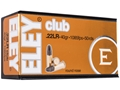 Eley Club Ammunition 22 Long Rifle 40 Grain Lead Round Nose Box of 500 (10 Boxes of 50)