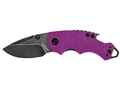 "Kershaw Shuffle Folding Tactical Knife 2.4"" Drop Point Stainless Steel BlackWashed Blade Nylon Handle Purple"