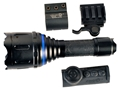 AimShot TX980 Wireless Remote Flashlight Adjustable Focus LED with 2 CR123A Batteries Aluminum Black