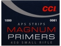 CCI Small Rifle APS Magnum Primers Strip #450 Case of 5000 (5 Boxes of 1000)