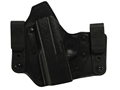 DeSantis Intruder Inside the Wasitband Holster Left Hand Springfield XDS Leather and Kydex Black