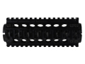 Midwest Industries 2-Piece Handguard Quad Rail LR-308 Carbine Length Aluminum Black