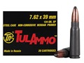 TulAmmo Ammunition 7.62x39mm 124 Grain Soft Point (Bi-Metal) Steel Case Berdan Primed Box of 20