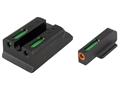 TRUGLO TFX Pro Sight Set Ruger SR9, SR9C, SR40, SR40C, SR45 Tritium / Fiber Optic Green with Orange Front Dot Outline