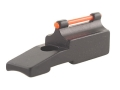 "Williams Fire Sight Muzzleloader Front Ramp Round .550"" Height, .531"" Width Aluminum Black Fiber Optic Red"