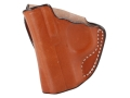 DeSantis Mini Scabbard Outside the Waistband Holster Left Hand Kimber Solo Leather Tan